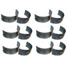 Set of Six Crankshaft Main Bearings (.002) - Crown J8133682 Fits CJ 2.5 3.8 4.2