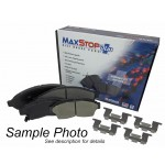 One New Front Ceramic MaxStop Plus Disc Brake Pad MSP741 w/ Hardware - USA Made