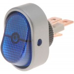 Blue Rocker Full Glow Electrical Switches, Oval Style Aluminum - Dorman# 84871